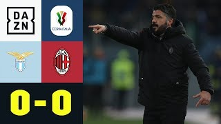 Gennaro Gattusos AC erkämpft sich Remis: Lazio Rom - AC Mailand 0:0 | Coppa Italia | DAZN Highlights