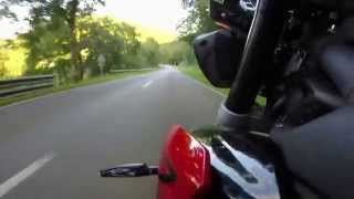 Riding Triumph Street Triple R Through Luxembourg