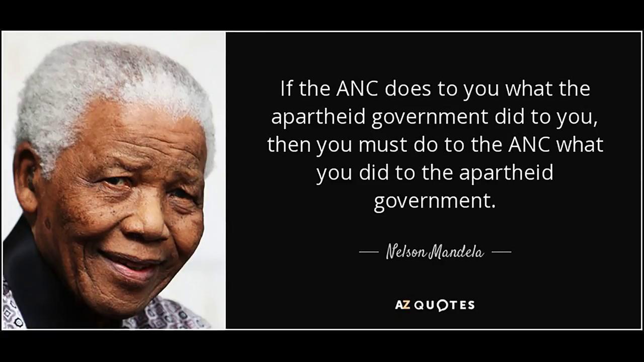 Nelson Mandela And Anc Talk Left But Walk Right Youtube