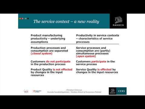 Hanken Professor Christian Grönroos - Principles of Service Management 3 - Service Productivity..