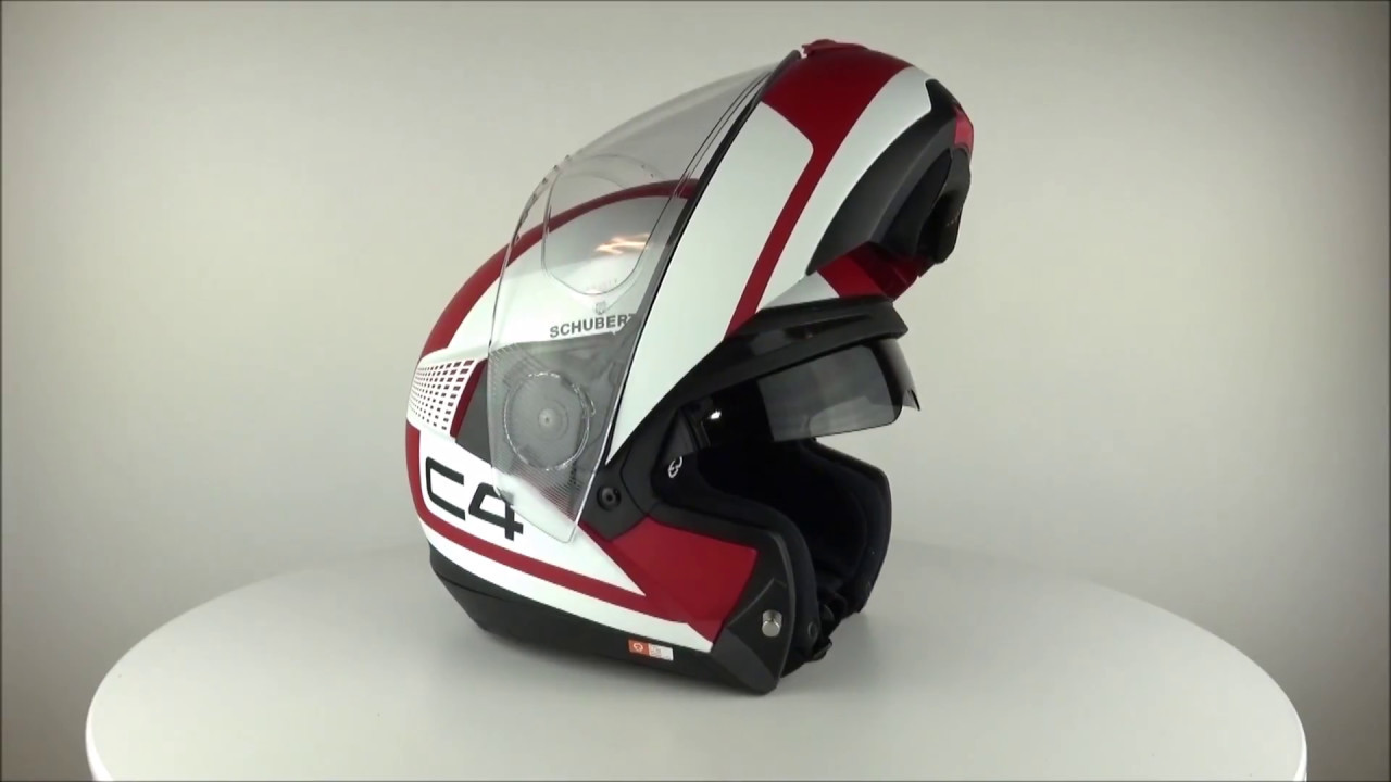 schuberth c4 legacy red helmet youtube. Black Bedroom Furniture Sets. Home Design Ideas