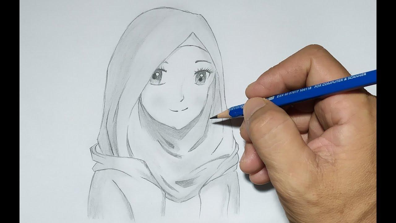 Cara Mudah Menggambar Anime Berhijab Yang Cantik Youtube