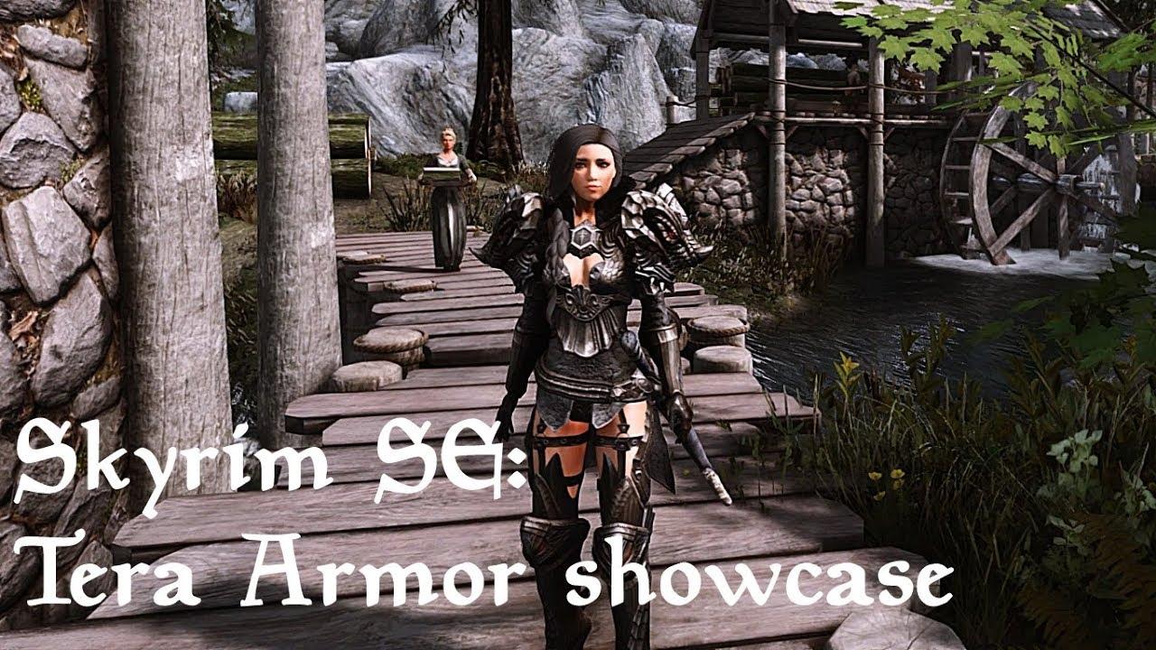 Skyrim SE: BEST ARMOR MODS #1 Tera Armor female NVT ENB