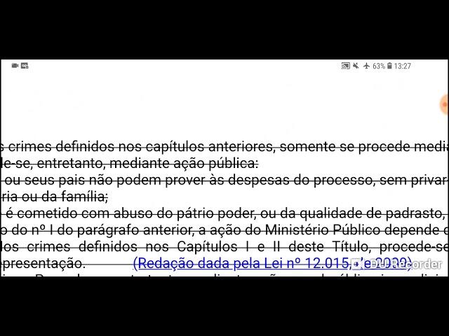 Lei 13.718/18: a ação penal dos crimes sexuais
