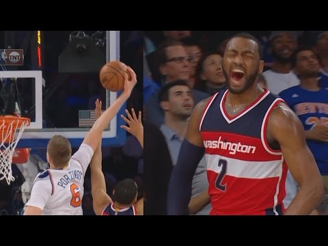 Carmelo Anthony 25 Pts in 2nd Quarter! John Wall Behind The Back! Wizards vs Knicks