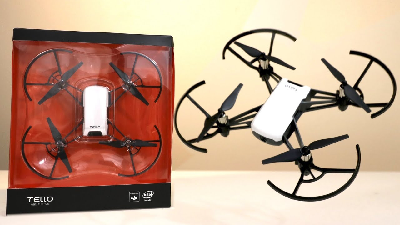 UNBOXING & LETS FLY! - RYZE TELLO aka THE $99 HIGH TECH DRONE by DJI - FULL  REVIEW!