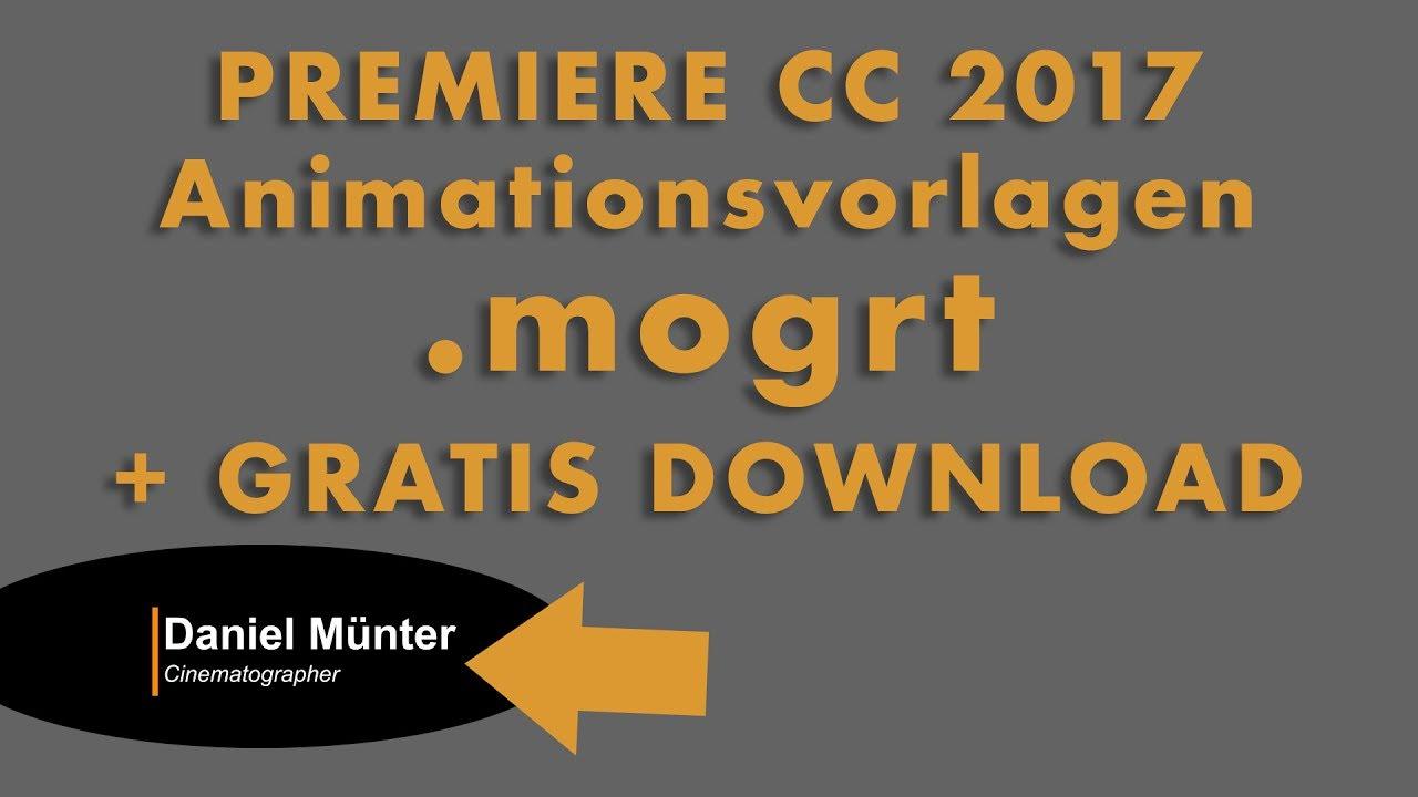 Animationsvorlagen In Premiere Verwendenmogrt Inkl Gratis Download