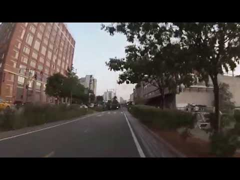 New York, New York - Hudson River Park Bikeway - 70th Street to World Trade Center HD (2014)