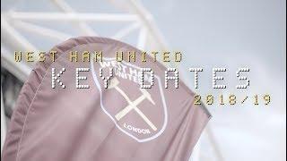 West ham united 18/19 premier league fixtures