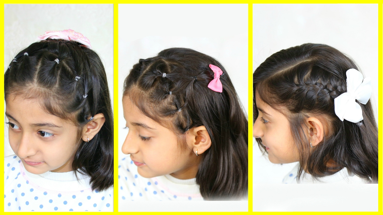 3 Simple Cute Hairstyles For Medium Hair Mymissanand Youtube
