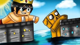Minecraft   RETO DE LA CASA TSUNAMI 🌊 UN TSUNAMI DESTRUYE LA CIUDAD!