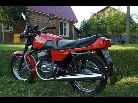 Мотоцикл JAWA 638 купаться на речку!