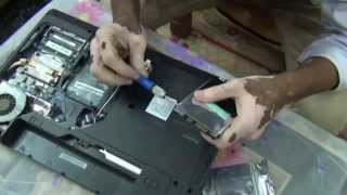How to change Hard Drive in Lenovo G570 Laptop (Hindi) (1080p HD)