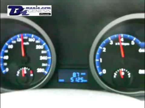 Genesis Coupe 3.8 V6 Manual Top Speed - YouTube