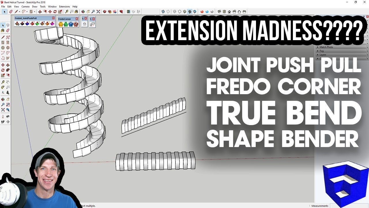 SKETCHUP EXTENSION MADNESS - Bent Shapes with FredoCorner