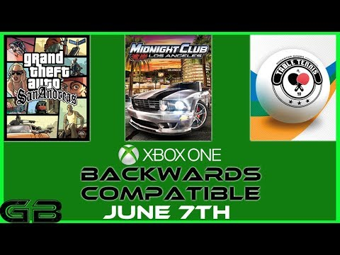 Xbox One: GTA San Andreas, Midnight Club LA, and Table Tennis