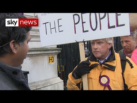 """Treason!"" - Sky's Faisal Islam confronts a pro-Brexit protester"