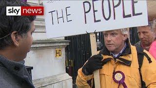 """Treason!"" - Sky's Faisal Islam confronts a pro-Brexit protester"