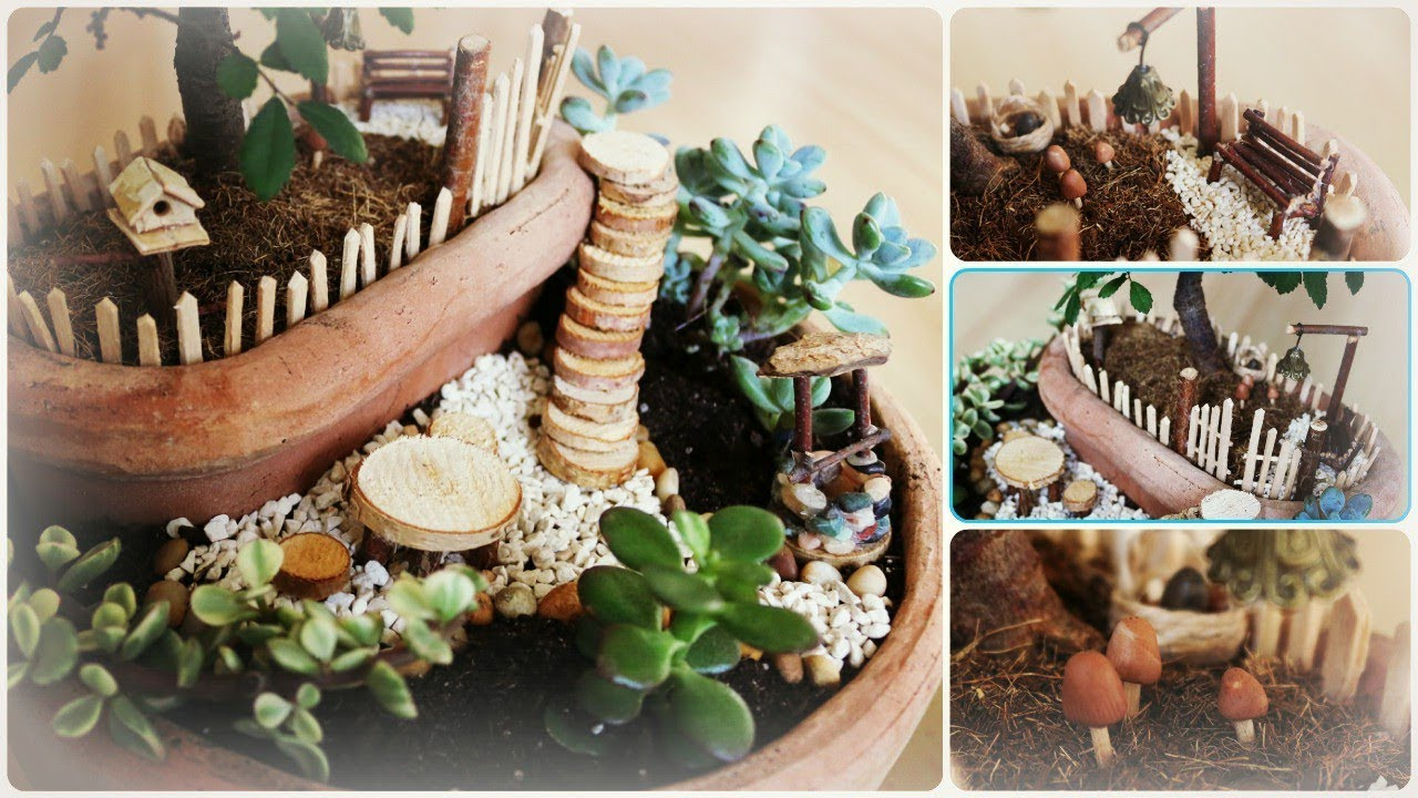 fairy garden 6 diy minigarten im topf youtube. Black Bedroom Furniture Sets. Home Design Ideas