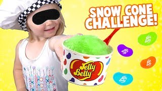 Snow Cone Challenge!! KIDS REACT to Jelly Belly Colors & Fun Games