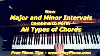 How  Major And Minor Intervals Combine To Form  All Types Of Chords