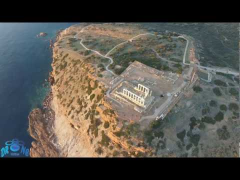 Drone Hellas - Ναός του Ποσειδώνα Σούνιο (Temple of Poseidon Cape Sounio)