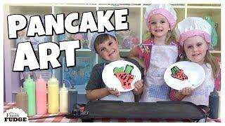 CUTE PANCAKE ART CHALLENGE! Sis VS Bro