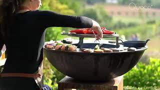 Barbecue plancha au bois en acier design - Quoco Large by Fargau Feuer
