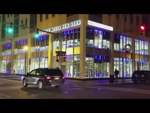 Advance Media New York office lights