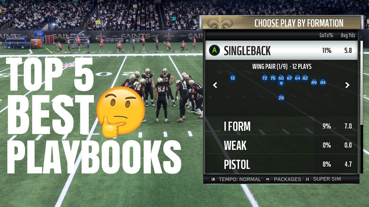 The New Top 5 BEST Playbooks In Madden 18