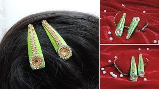 Make Silk Thread Hair Clips | Tutorial DIY