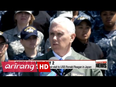 Thumbnail: Pence sends warning to N. Korea aboard USS Ronald Reagan in Japan