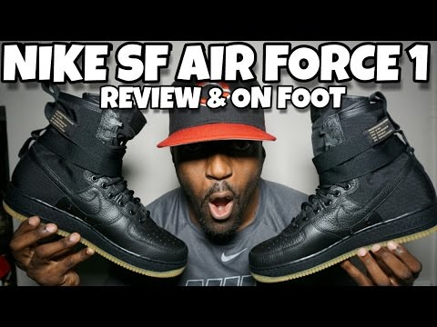 NIKE AIR FORCE 1 SPECIAL FIELD BLACK GUM REVIEW & ON FOOT