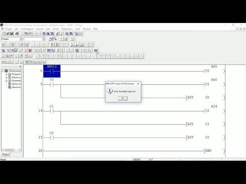 GX Developer plc clock application | Mitsubishi Software | PLC