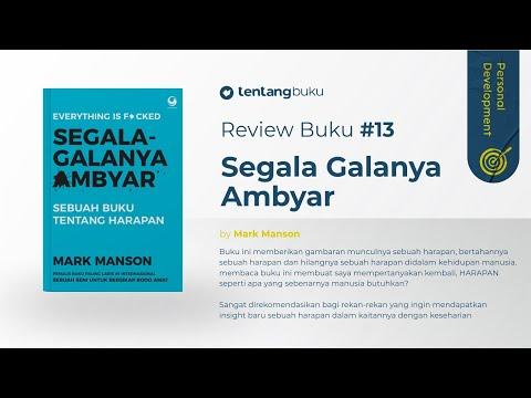 Review Buku 13 Segala Galanya Ambyar By Mark Manson Buku