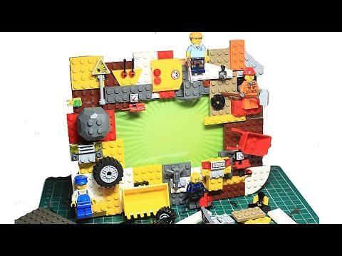 Easy How To Make a Custom Lego Picture Frame - YouTube