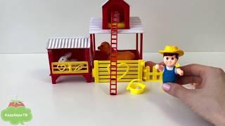 Игровой Набор Наша Ферма Двухэтажный Дом/Toy Playset Farmer Animals