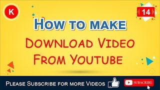 How to download video from youtube without using any program, how to download video from youtube