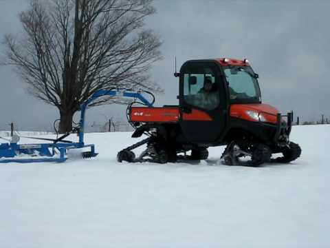 2009 Kubota Rtv 1100 Groomer Youtube