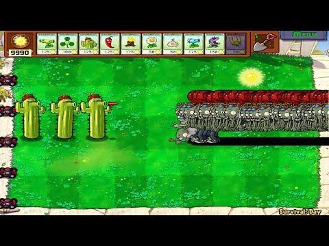 9999 Balloon Zombies vs Cactus Hack Plants vs Zombies