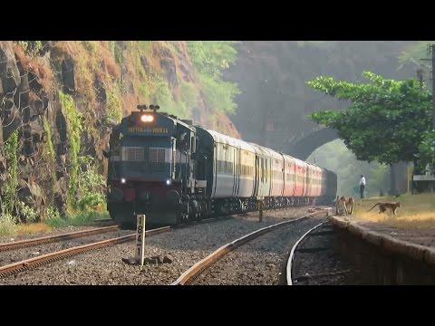 [5 in 1] Replica of ICF RAJDHANI : Bikaner - Coimbatore AC Express : [Coverage in Konkan + WR]