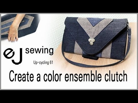 up cycling - 61/up cycle/Create a color ensemble clutch/스카프로 만든 배색 클러치/Make a bag