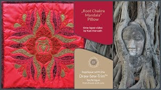 "How it was made - ""1st Root Chakra Mandala"" Pillow (DST / Time-lapse)"