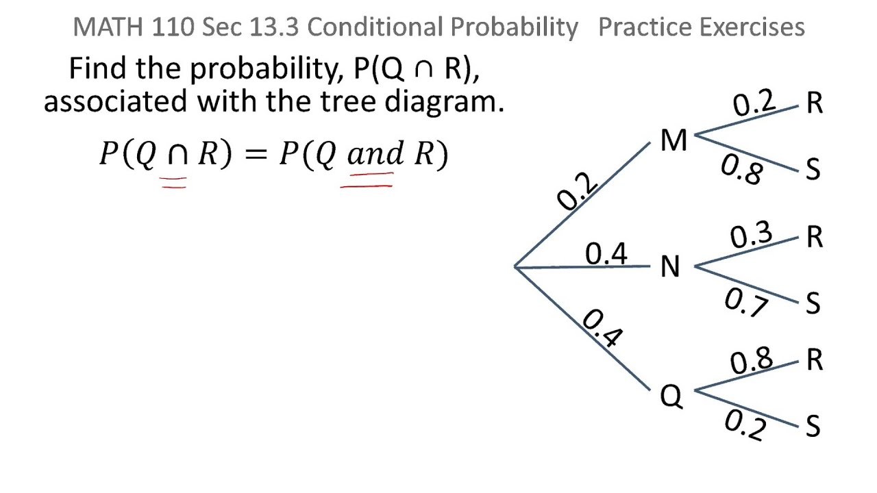 Probability pq and r from tree diagram youtube probability pq and r from tree diagram ccuart Gallery
