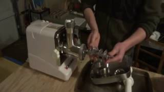 Grinding venison with a Kitchener Electric Meat Grinder #12