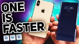 iPhone XS Max VS Samsung Galaxy Note 9 - Speed Test