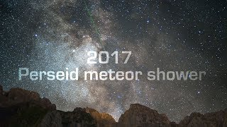 PERSEID METEOR SHOWER, Valais, Switzerland - 4K