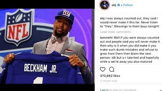 Odell Beckham Jr PREDICTED NY Giants Draft Pick Hours Before The Draft on Instagram!