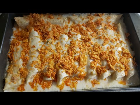 First Day Of First Grade And Cooking Chicken Enchiladas With White Sauce