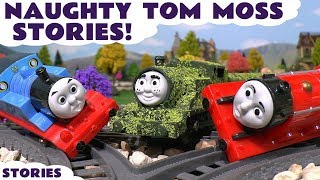 thomas friends naughty pranks with tom moss play doh diggin rigs toy train stories tt4u